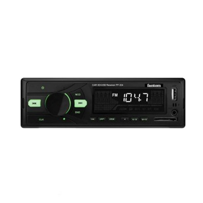 Автомагнитола Fantom FP-324 Black/Green 24V